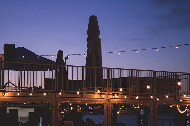 noční romantika na terase
